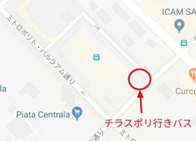 中央バスターミナルの地図