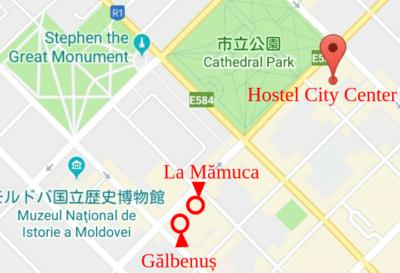 カフェとベーカリーの地図