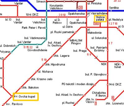 トラム路線図