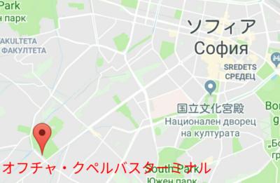 オフチャ・クペルバスターミナルの地図