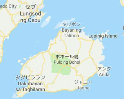 ボホール島の地図