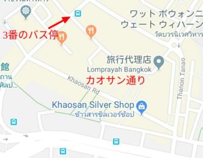 カオサン通りの地図