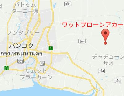 バンコクとチャチュンサオの地図
