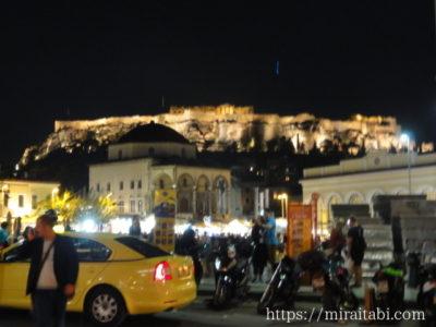 夜のアクロポリス