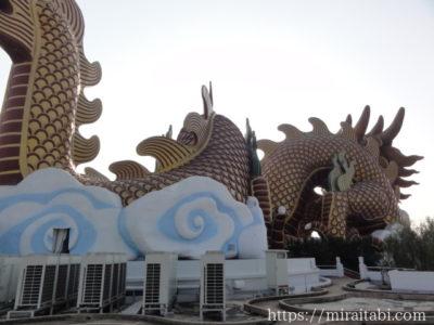 巨大龍博物館の後ろ側