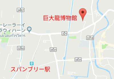 巨大龍博物館の地図