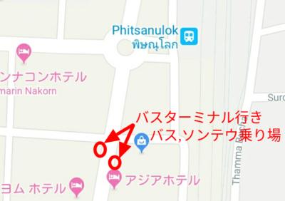 バス停の地図