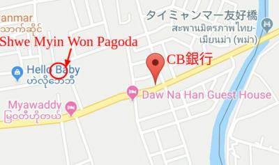 ミヤワディの地図