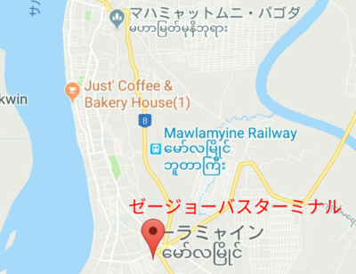 ゼージョーバスターミナルの地図