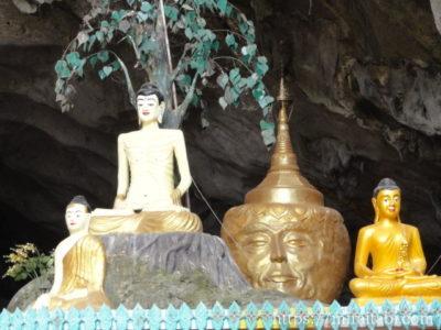 サダン洞窟の仏像