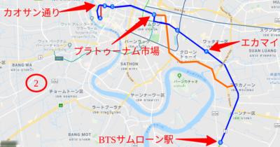 2番バスのルートマップ