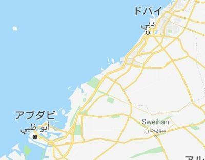 アブダビとドバイの地図