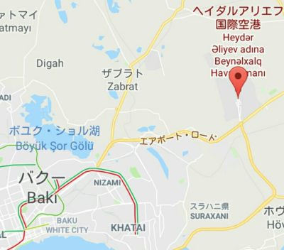 ヘイダル・アリエフ国際空港の地図