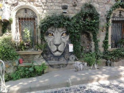 ライオンのウォールペイント
