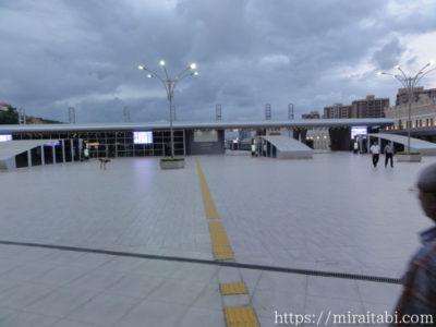バクー中央駅のプラットホーム