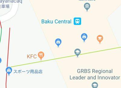 バクー中央駅の地図