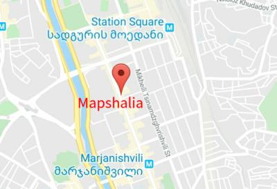 Mapshaliaレストランの地図
