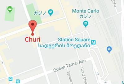 Churiレストランの地図