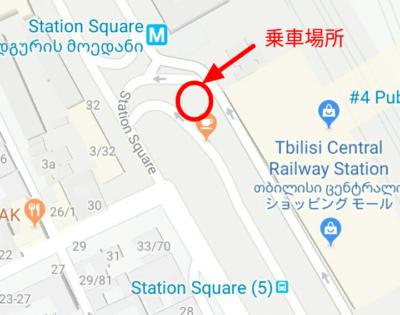 トビリシ中央駅の地図