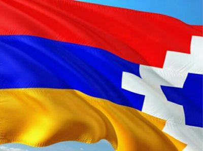 ナゴルノカラバフの国旗