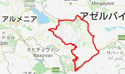 ナゴルノカラバフの地図