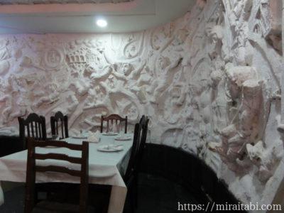 レストランの壁