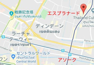 エスプラナードの地図