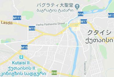クタイシの地図