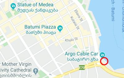 バトゥミ・ターミナルの地図