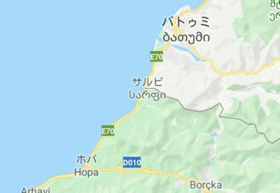 トルコとジョージアの国境地図
