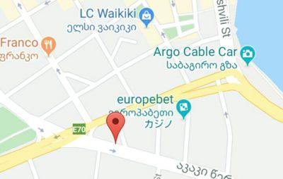 サルピ行きバス乗り場の地図