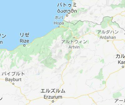 トルコとジョージアの地図