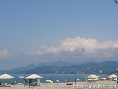 バトゥミのビーチ