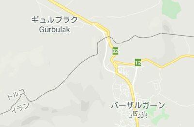トルコとイランの国境の地図