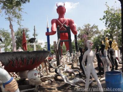 釜茹地獄の像