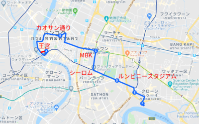 路線赤バス47番ルートの地図