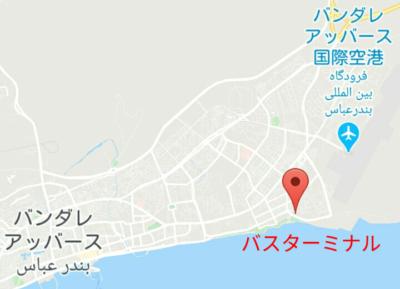 バスターミナルの地図