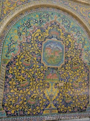 ゴレスターン宮殿のタイル細工