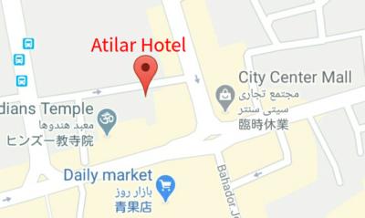 Atilar Hotelの地図