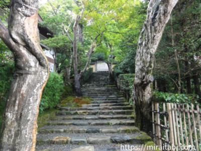 寂光院の階段