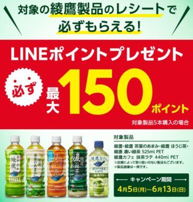 綾鷹のLINEキャンペーン